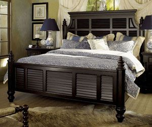 Tommy Bahama Home Kingstown Malabar Panel Queen Size Bed by Lexington Home Brands