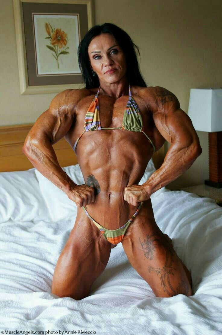 Cum shots muscle woman