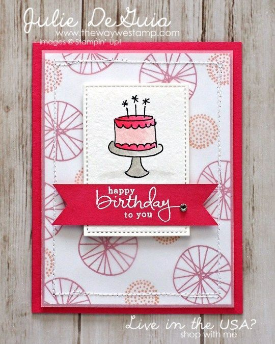 www.thewaywestamp.com Endless Birthday Wishes for Global Design Project 072 #GDP072 #endlessbirthdaywishes #ballooncelebration #stampinup #handmadecards #diycrafts #juliedeguia #thewaywestamp
