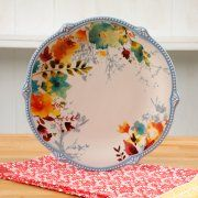 THE PIONEER WOMAN WILLOW 10.75-INCH SCALLOPED DINNER PLATE