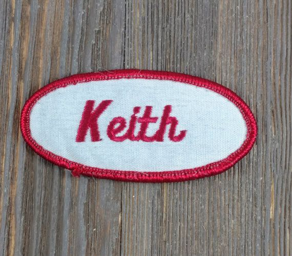 Keith-Vintage Name Patch-Name by TuesdayBlueberries on Etsy