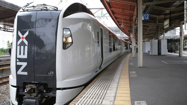 Check your Hyperdia app for the next N'EX train from Narita.