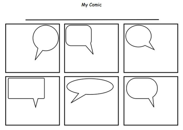 Printable Comic Template Printable Comic Strip Template Pdf Word