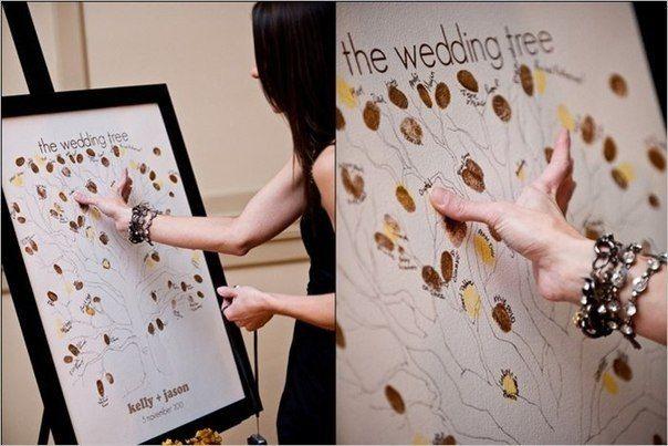 Дерево, на котором гости оставляют отпечатки пальцев