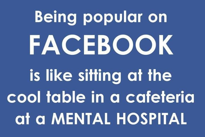 this just made me laugh out loud... seriously.  I got the image of my friends & me sitting together at a table in a mental hospital, & it actually kinda worked... in my head.