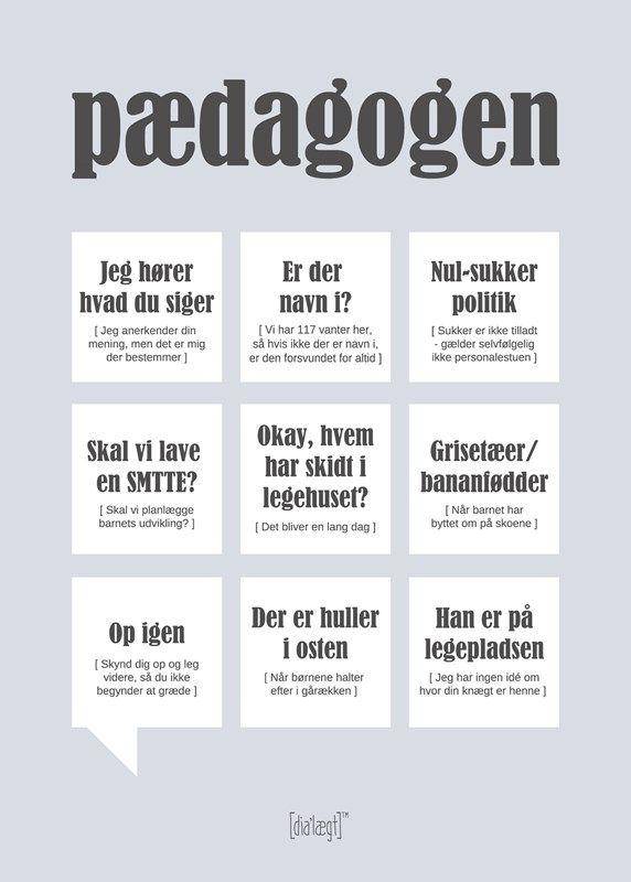Pædagogen 50x70 poster from Dialægt