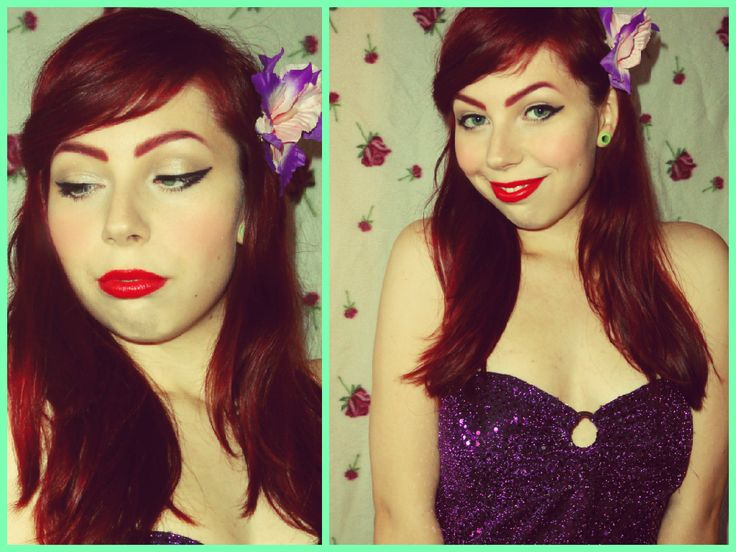 little mermaid vintage style :)  #makeup #style #beauty #ariel #mermaid #pinup #vintage