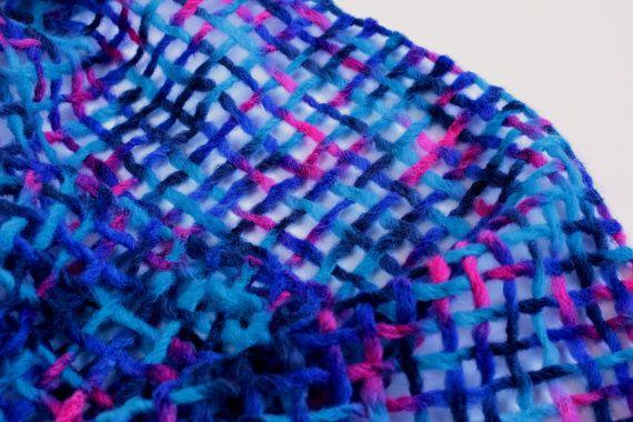 Purple felted wool scarf-Northern lights