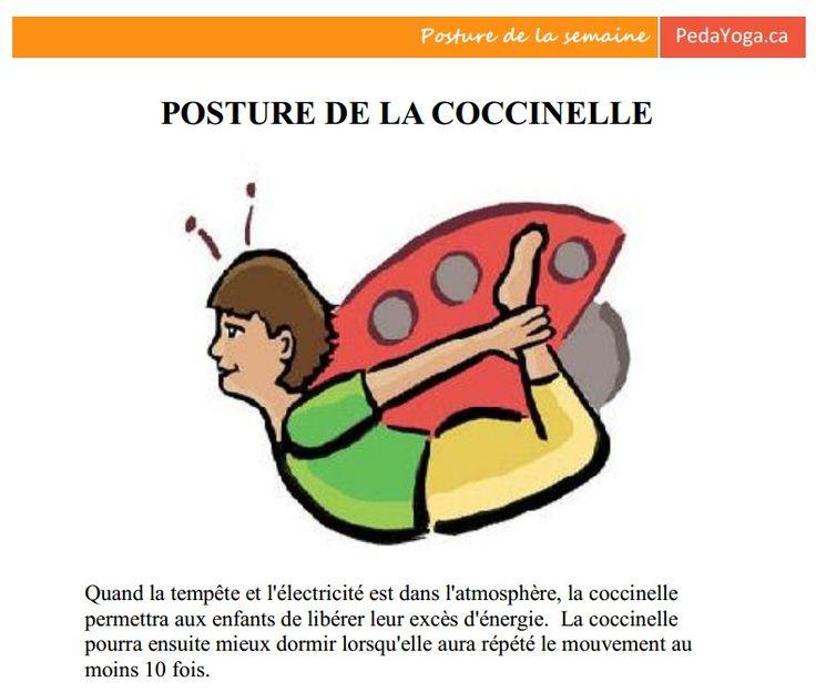 Posture de la semaine 1 ou par jour - Mouvement PedaYOGA 7 postures pour le calme et le développement de saines habitudes! Cliquez sur l'image pour l'imprimer