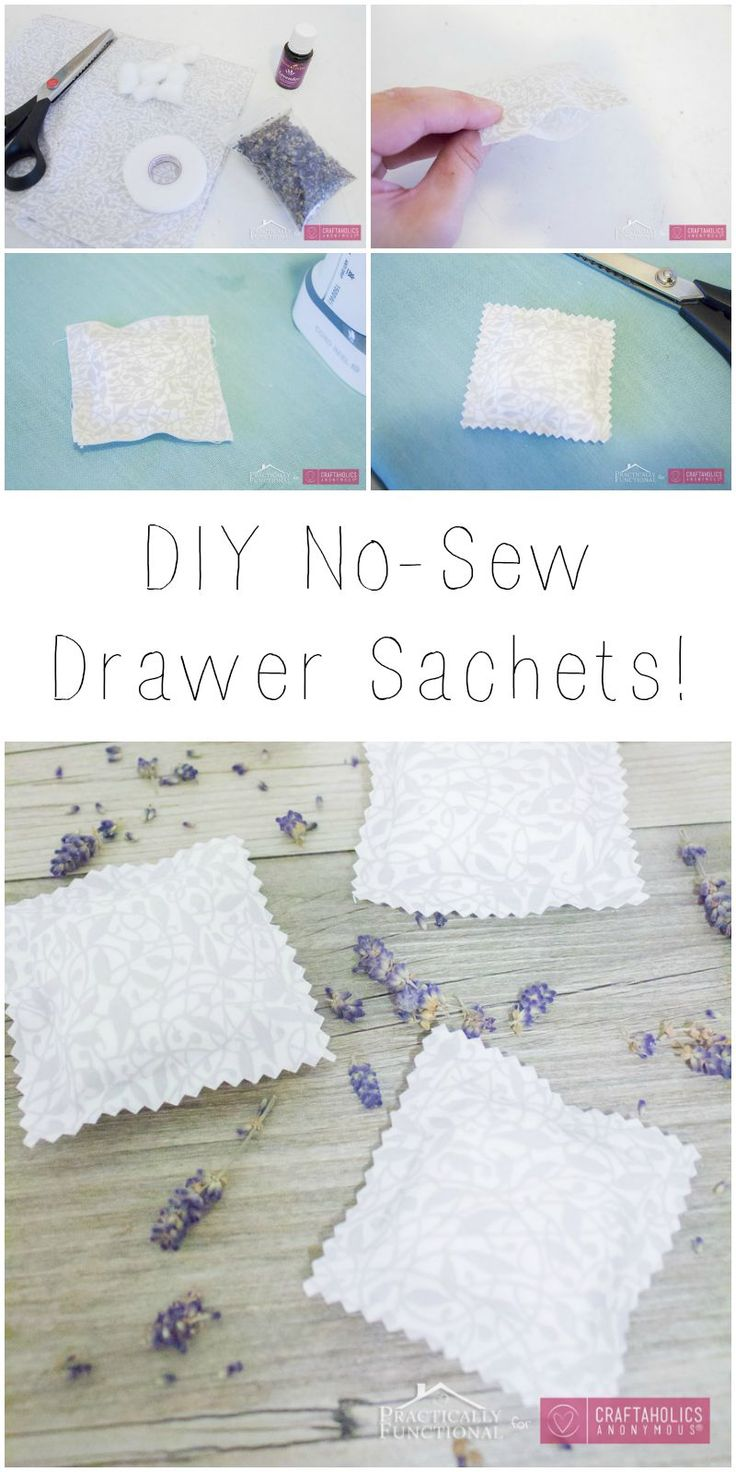 Hey Craftaholics Anonymous® readers! ItsJessi here from Practically Functional.I'm really excited to share today's project with you; these homemade drawer sachets are quick and easy to make, totally functional, and super cute! And the best part