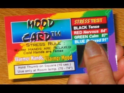 stress cards, mood cards, biofeedback, lie detector - YouTube