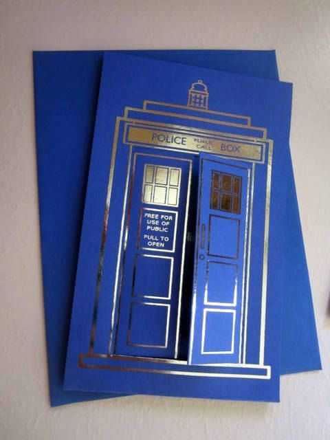 Doctor Who Tardis Custom Greeting Card by LegendaryLetters on Etsy, $9.00