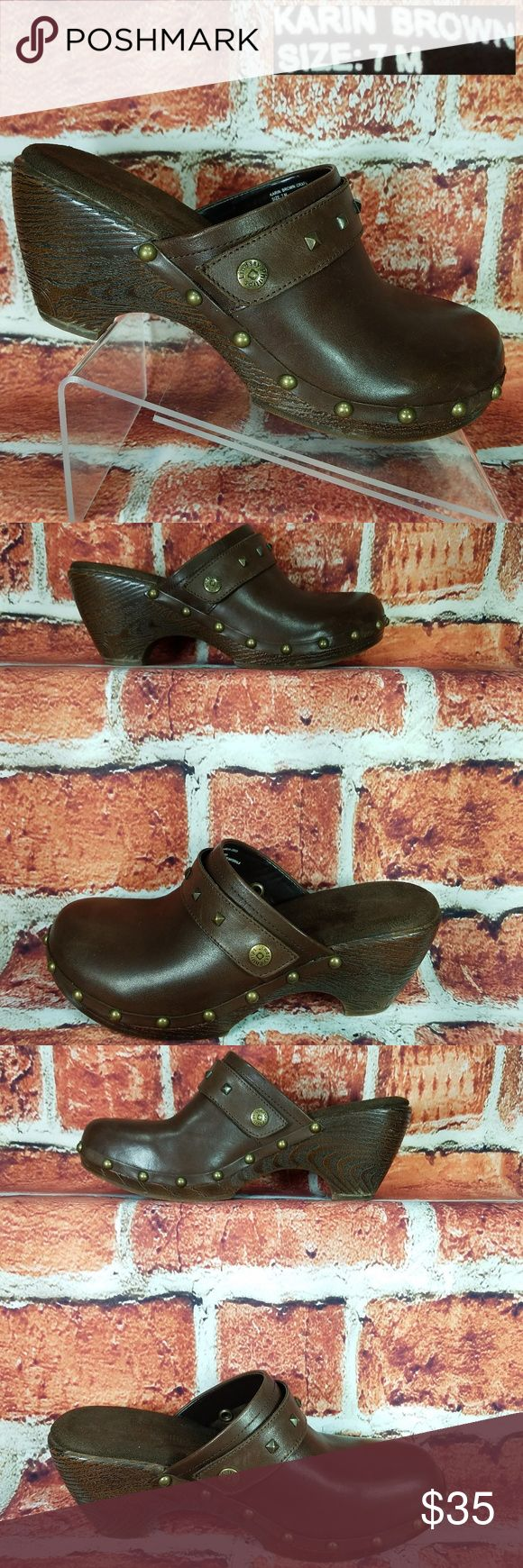 Lindsay Phillips Sz 7 Lindsay Phillips Women Karin Studded Slip on Mules Clogs Size 7 Brown Open Back  Condition: Great Minimal Scuffing Photos are best description Size: 7 Lindsay Phillips Shoes Mules & Clogs