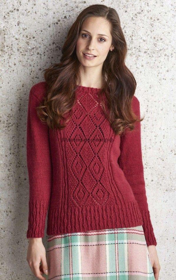 Вязаный спицами пуловер Charlecote от Аманды Джонс. Обсуждение на LiveInternet - Российский Сервис Онлайн-Дневников