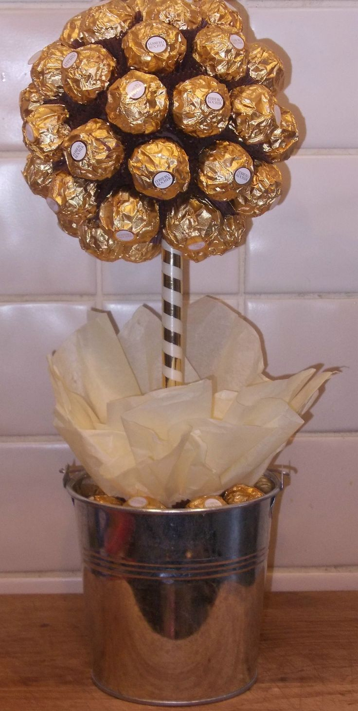Ferrero Rocher Tree Cake Pinterest Chocolate Bouquet