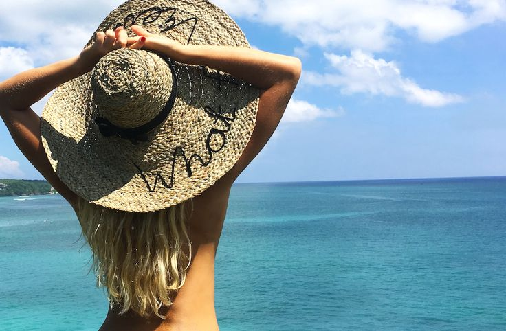 What a view hat  #beach #bikini #bali #hat #sunhat #beachhat #surf #woman #ocean #dream #holiday #vacation