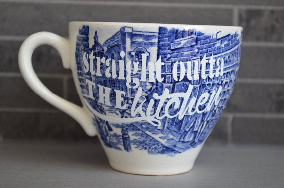 Vintage Teacup Straight Outta the Kitchen by bostoninachinashop