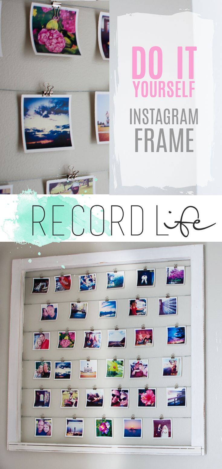 Diy Crafts Ideas : DIY Instagram Frame Idea   Change out the photos!  Love this!  https://diypick.com/decoration/decorative-objects/crafts/diy-crafts-ideas-diy-instagram-frame-idea-change-out-the-photos-love-this/