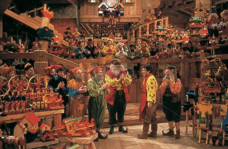 """The toy shop at the North Pole in """"Santa Claus"""". (1985) 