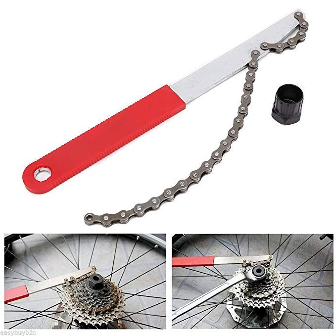 Oumers Bike Chain Tools Kit Upgrade Rotor Lockring Removal Wrench /& Chain Whip with Cassette//Bicycle Flywheel Remover Sprocket Remover Tool Pack