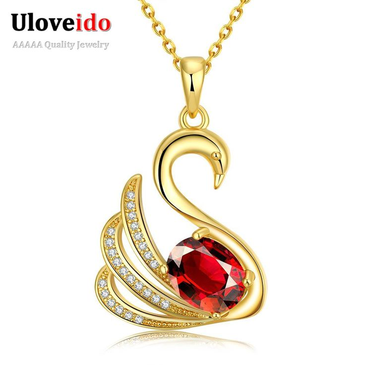 Find More Chain Necklaces Information about Moda Feminina 2016 Zircon Necklace With Red Stone Fashion CZ Diamond Jewelry 18K Gold Plating Animals Necklaces N077 A,High Quality jewelry stores necklaces,China necklace jewelry tree Suppliers, Cheap jewelry china from ULOVE Fashion Jewelry on Aliexpress.com