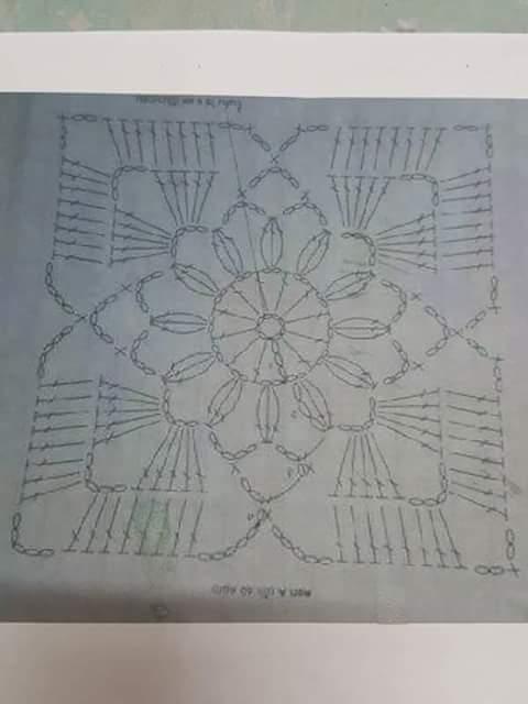 Кофточка из квадратных мотивов. Схемы