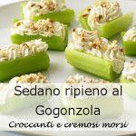 Sedano Ripieno al Gorgonzola | Antipasti Veloci