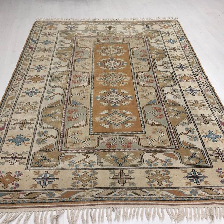 """Thanks for the kind words! ★★★★★ """"This rug came in beautiful vintage condition!! The muted colors and wear were more beautiful in person than pictured online. I was very satisfied with my purchase and accompanying gift. I would definitely order from this shop again!"""" Jeanne S. ht"""