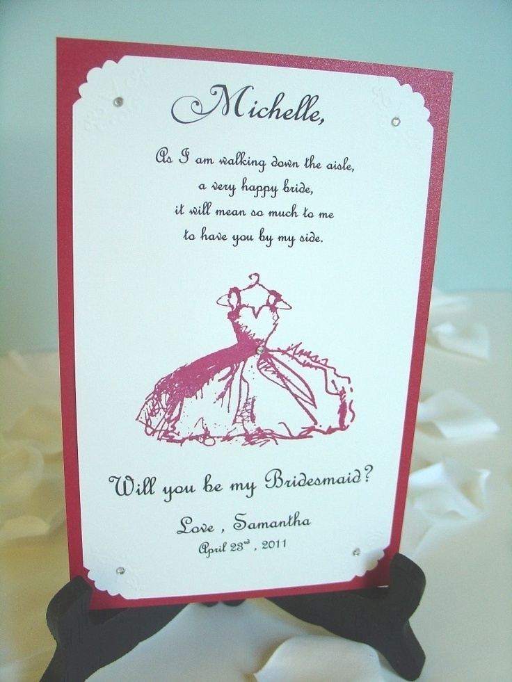 Bridesmaid Invitation X Will You Be My Wedding Maid Of Honor Matron