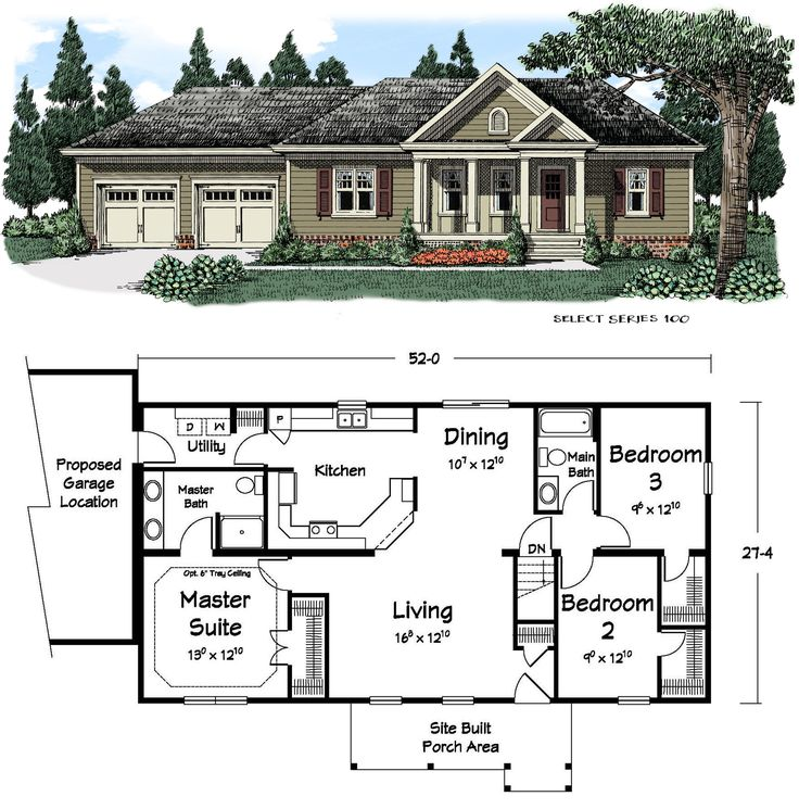 Ranch house plans with lots of windows for Ranch style home blueprints