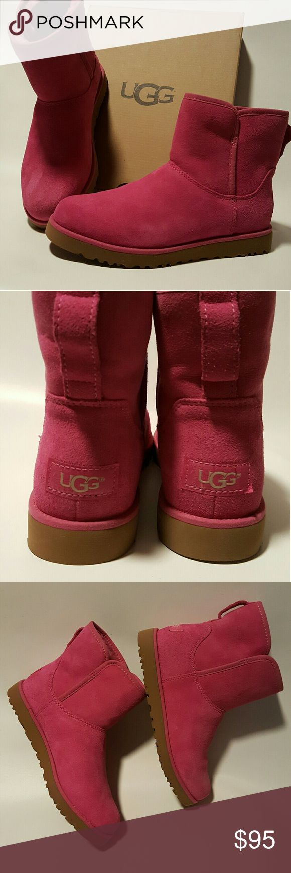 📦 UGG CORY BOOT 📦 New  Slim Short  bootie .  size 6        Furious Fuchsia.  New in box. UGG Shoes Ankle Boots & Booties