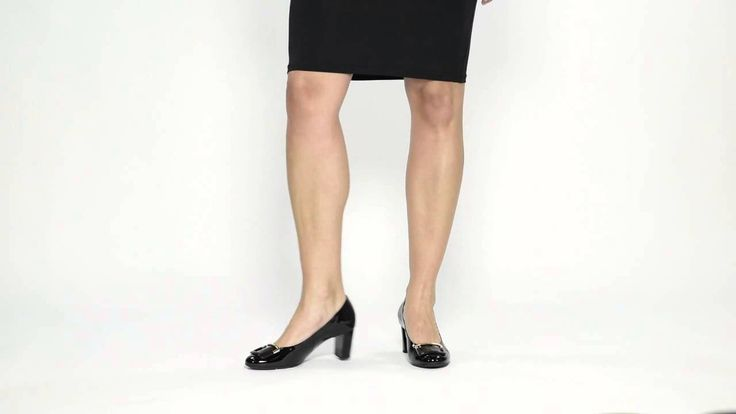 Louise M shoes - Hogl Black Patent Heel with Buckle