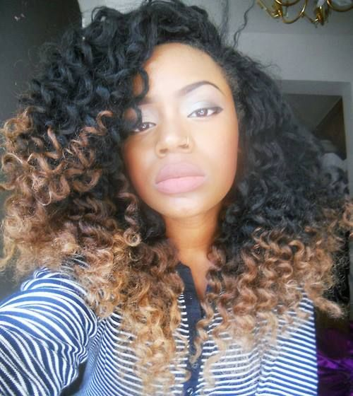 Natural hair ombre: Curly Hairstyles, Hair Ideas, Ombre Hairstyles ...
