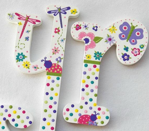 linda letras inspiradas en el jardín