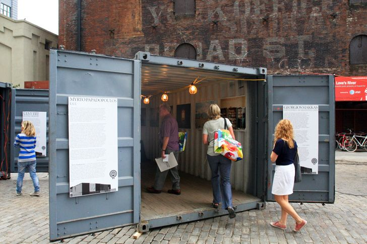 shipping container recycling for a shop
