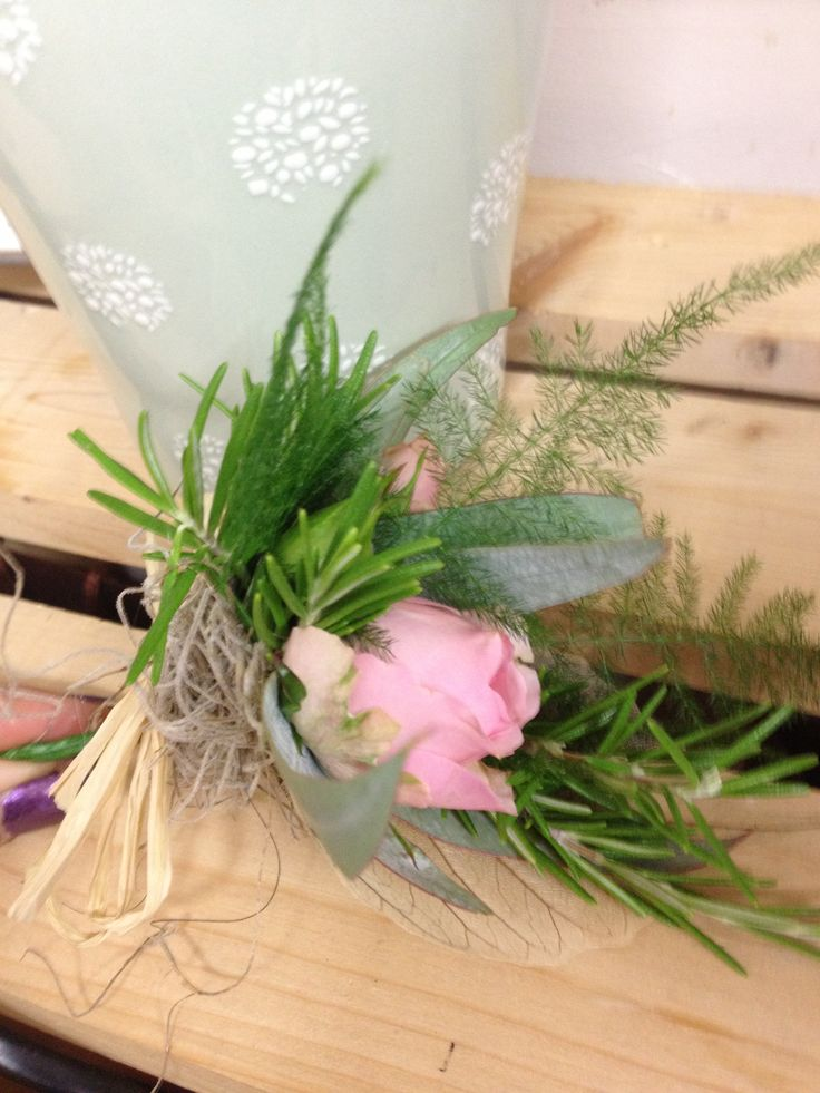 This wild little buttonhole was perfect for the countryside wedding and marquee reception x