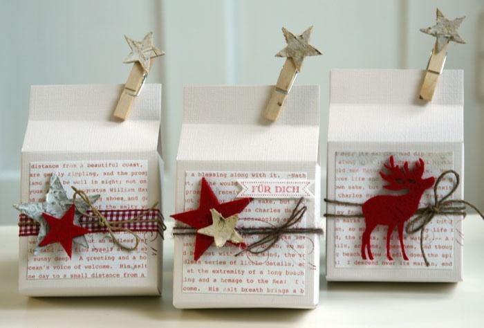 Blütenstempel: Weihnachtliche Verpackungen