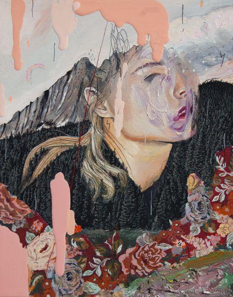 Oil + pencils / wood Alexandra Levasseur