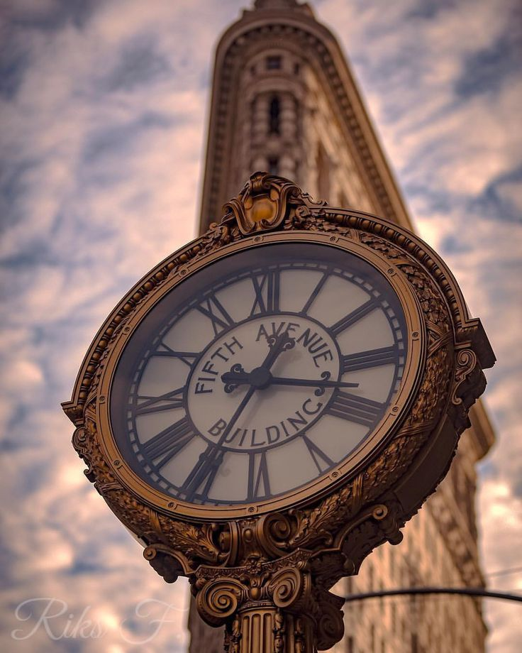 """6,871 Likes, 76 Comments - Elena (@pictures_of_newyork) on Instagram: """"Beautiful details of the iconic clock by the Flatiron Building - gorgeous shot by Riks @alpha_riks…"""""""