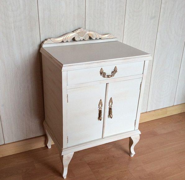 17 mejores ideas sobre mesitas antiguas en pinterest - Pintar madera blanco ...