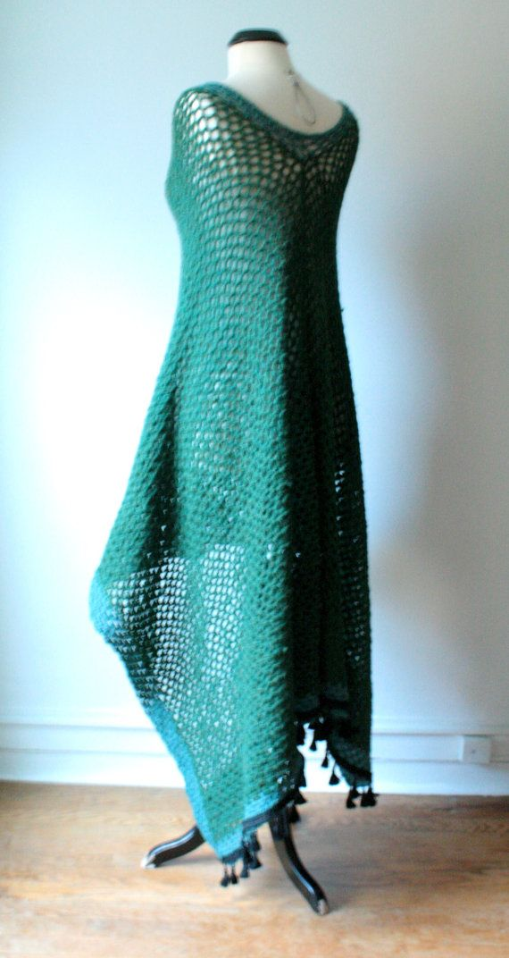 MADE TO ORDER Crochet Poncho Cape Color Emerald by OliviaRoyale