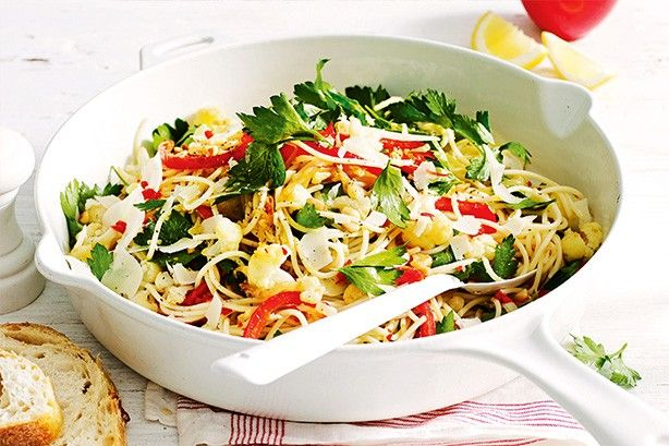 Reduce the chilli in this recipe for a kid-friendly vegetarian meal.