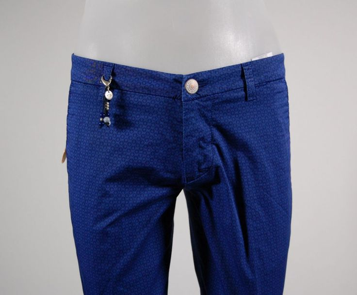 Slim fit stretch cotton pants fradi tiny patterns