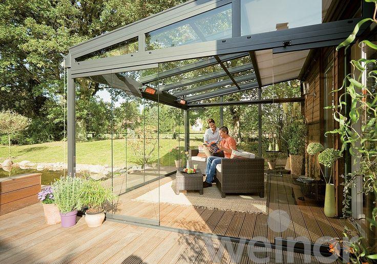 25 besten terrassendach glas berdachung bilder auf. Black Bedroom Furniture Sets. Home Design Ideas