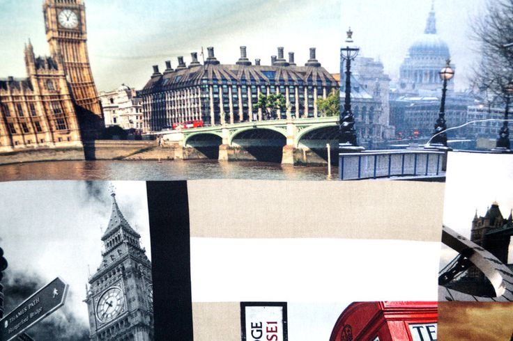 Interieurstof katoen digitaal 1064-069 London