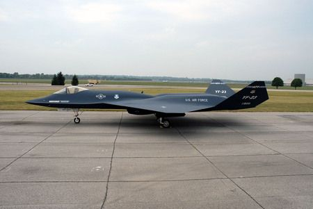 YF-23 - bomber, plane, missile, military, firepower, air, fighter, jet, aircraft, wing, force