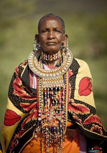 Africa   Elderly Masai woman. Kenya   ©Simon Winnall