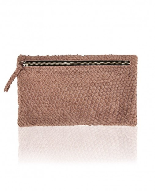#clutch made of fish leather (perch)   Design by #NinaPeter