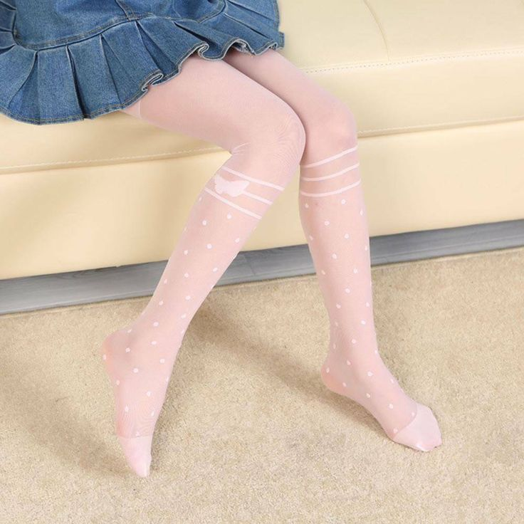 Kid Pantyhose Girl Tights with Bow Tights Kid Dance Ballet Summer Clothing #fash…