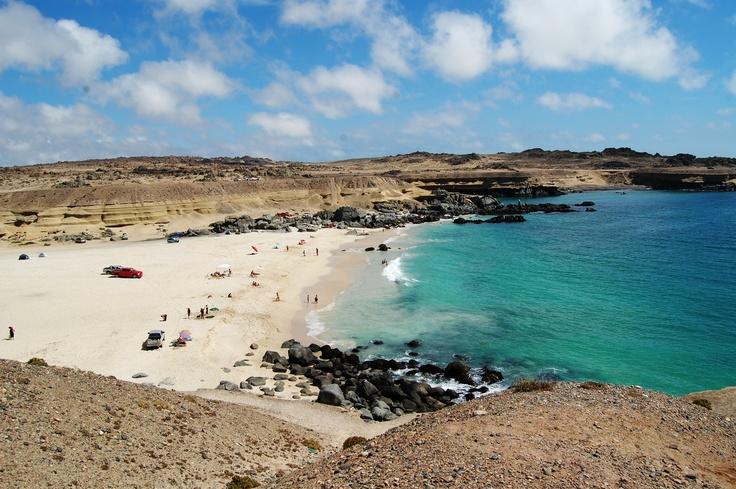Playa Blanca, a espalda de Puerto Viejo. Al sur oeste de Caldera